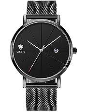 LIEBIG 腕時計 スタンダード クォーツムーブメント メンズ ウォッチ ビジネス 日付 自動 ステンレスベルト 防水 時計 watch 男女兼用
