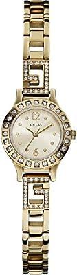 Guess - Reloj con correa de metal para mujer