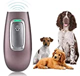 ULTPEAK Anti Barking Device,Rechargeable 2 in 1 Dog Bark Deterrent& Cat Toy with Double Frequency Mode 16.4 Ft Range LED Indicator,Safe for Dogs and Cats (pink)
