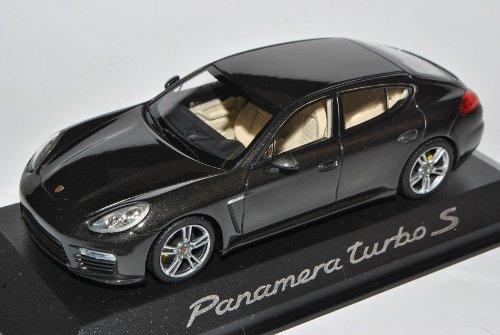 Minichamps Porsche Panamera Turbo S Schwarz Grau Ab Facelift 2013 1/43 Modell Auto