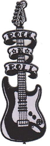 Toppa termoadesiva con ferro da stiro, motivo: chitarra elettrica, rock n roll