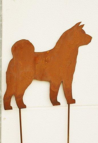 Gartendeko Rost Akita Inu 120 cm Hund Dog