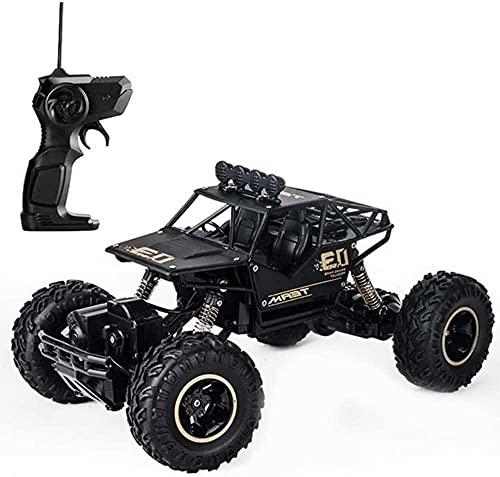 Moerc 1:16 Control Remoto Car Rock Rock Crawler RC Cars Monster Truck Recargable Alojamiento eléctrico Escalada Vehículo Todoterreno para Adultos y niños Hobby Carring Car (tamaño : 2battery Packs)