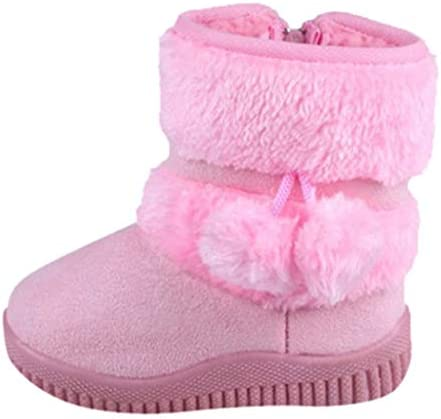 Toddler Snow Boots Kids Girls Fleece Bootie Boys Girls Faux Fur Anti Slip Winter Boots product image