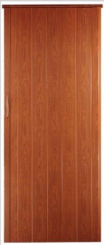 Falttür Schiebetür Tür kirsche farben Höhe 202 cm Einbaubreite bis 85 cm Doppelwandprofil Neu