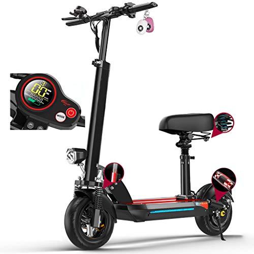 Patinete Eléctrico Adultos con Asiento,Alcance de 60Km, Ajustable la Altura,500W Eléctrico Scooter,10