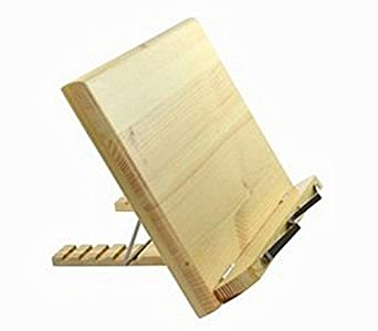 Lenhart - Atril de madera para libros (portátil, iPad, libro, libro de cocina, soporte de música)