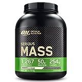Optimum Nutrition ON Serious Mass Proteina en Polvo Mass Gainer Alto en Proteína, con Vitaminas, Creatina y Glutamina, Galletas y Crema, 8 Porciones, 2.73kg, Embalaje Puede Variar