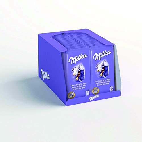 Milka Mini Tablette Lait -Présentoir de 32 mini tablettes
