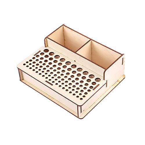 ZHWDD 103-gaats handgemaakte lederen gereedschapshouder - DIY houten vaste doos organisator monteren, voor gereedschapsopslag, multifunctionele bevestigingsbeugel, verschillende maten