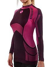 Sesto Senso® Functioneel ondergoed voor dames, shirt met lange mouwen, top, onderhemd, sneldrogend, functioneel shirt, skiondergoed, skikleding, sportkleding, fiets motor, thermomoactive