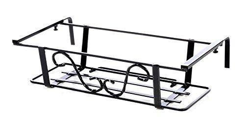 Fioriera - Balconiera Regolabile con Tubo Balconiera Cm.85/Ganci Fino a 40 Cm -Art.12002_40-100% Made in Italy -