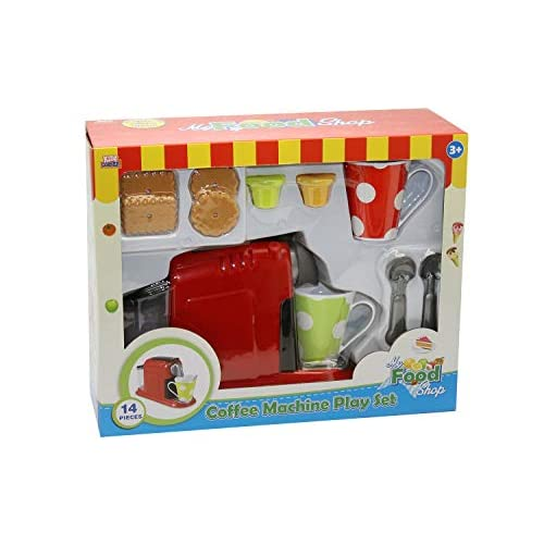 Kidz Corner- Macchina caffè e Accessori Coffee Set, Multicolore, 438801