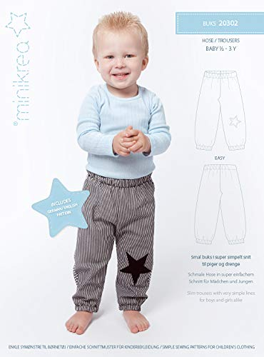 MAGAM-Stoffe Hose Schnittmuster Babys und Kinder inkl. Aufnäher Enno