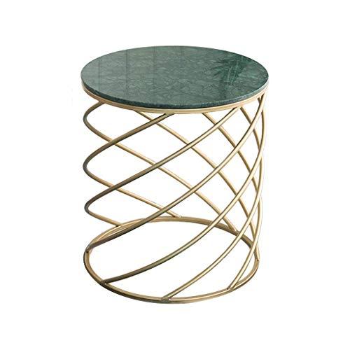 N/Z Equipement de la Vie Table d'appoint en marbre Table de canapé Balcon Petite Table Basse Salon Table Ronde Table d'angle Vert