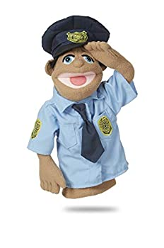 Melissa & Doug Police Officer Puppet  Cyrus 'Cy' Wren  with Detachable Wooden Rod