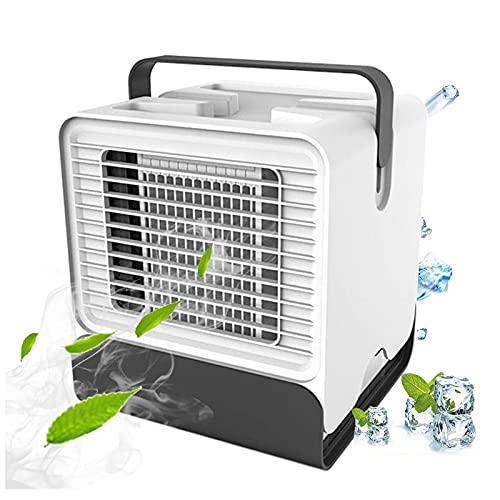 HFFSGS Mini refrigerador de Aire, 3 en 1 Mini afección de Aire portátil, refrigerador de Aire y humidificador y purificador de humidificadores con 3 velocidades Ajustables, Enfriador de Aire Personal
