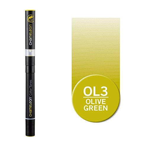 Chameleon Art Products, Chameleon Pen, Olive Green OL3, One Pen Two Nibs
