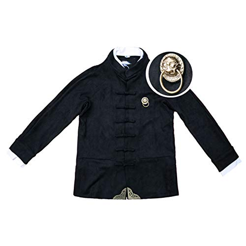 Copper Jewelry Men's Sweater Jacket Chinese Style Double Collar Tang Suit Jacket Handmade Handicap, Retro Style Design For Men And Women Suitable For Leisure Fitness, Sports And Daily Wear
