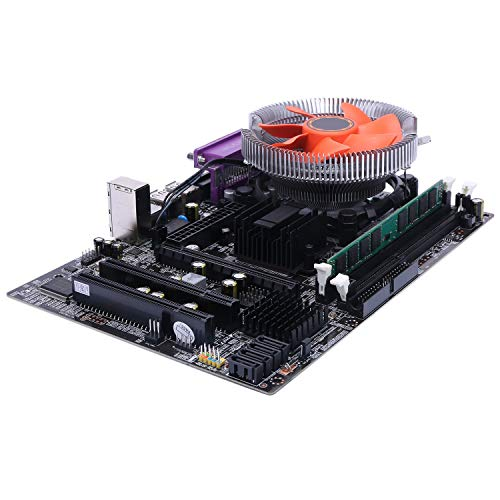 Timagebreze G41 Placa Madre De Computador De Escritorio para CPU Juego con Cuatro Núcleos 2.66G CPU E5430 + 4G Memoria + Ventilador ATX Juego De Ensamble De Placa Base De La Computadora