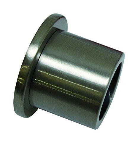GARDINIA Wandlager für Gardinenstangen mit Durchmesser 20 mm, Inklusive Befestigungsmaterial, Wandmontage, Metall, Edelstahl-Optik