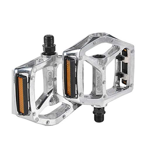 Bicycle pedal aluminum alloy mountain bike pedal folding bicycle rear pedal bicycle accessories-B249-Silver pair