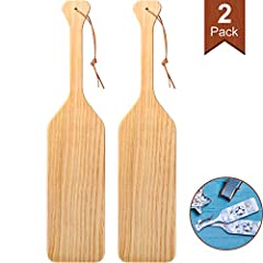 Easy to paint: this paddle wood is made from quality raw pine wood that is easy to paint, dye and decorate, ready to dye and decorate as you see fit to show your special design, can be applied for many years Use your creativity: an unfinished wooden ...