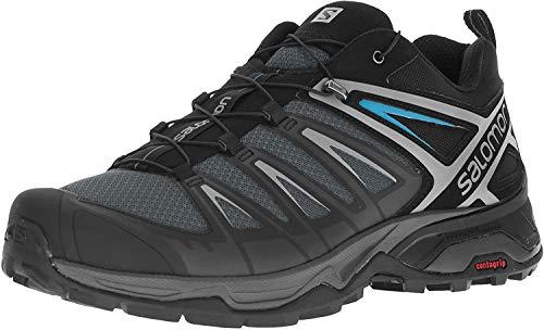 Salomon Men's X Ultra 3 Hiking Shoes, Phantom/Black/Hawaiian Surf, 9