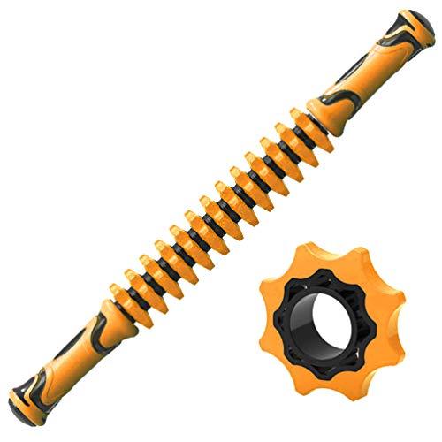BESPORTBLE Muskelroller Stick Körpermassagestab Massagegeräte für Sportler Linderung Bein Arm Muskelkater Krämpfe Enge (Orange)