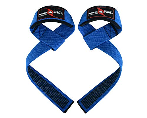 """POWER PUNCH Lifting Wrist Straps (Pair) for Weightlifting 