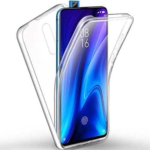 NewTop Cover Compatibile per XIAOMI Mi 9T/K20 PRO/Mi 9T PRO, Custodia Crystal Case TPU PC Protezione 360° Fronte Retro Full Body