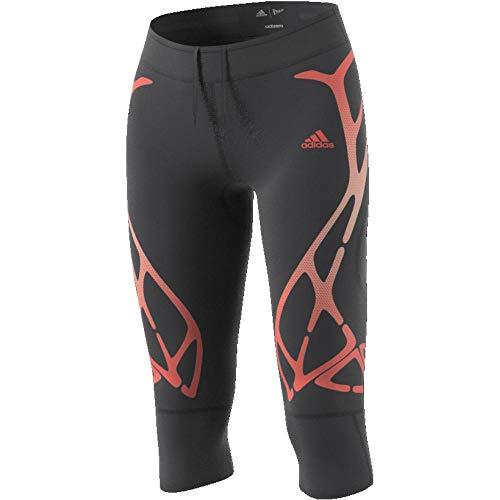 adidas Adizero Sprintweb 3/4-Tight Pantalons de Compression Femme, Carbon, FR : XXS (Taille Fabricant : 2XS)