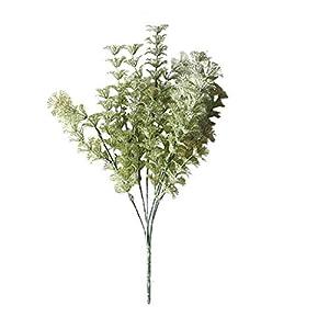 Fenleo Artificial Flowers Silk Lambs Ear Leaf Spray Greenery for Home Décor Wedding