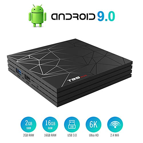 Android 9.0 TV Box Smart Media Box 2GB RAM 16GB ROM H6 Quad-Core WiFi 2.4G 100M LAN Ethernet 2USB Set Top Box Support 6K Ultra HD Internet Video Player
