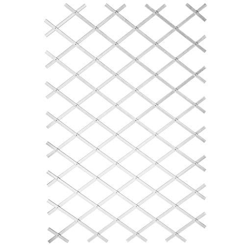 Ausziehbares Rankgitter Kunststoff weiß–50x 150cm