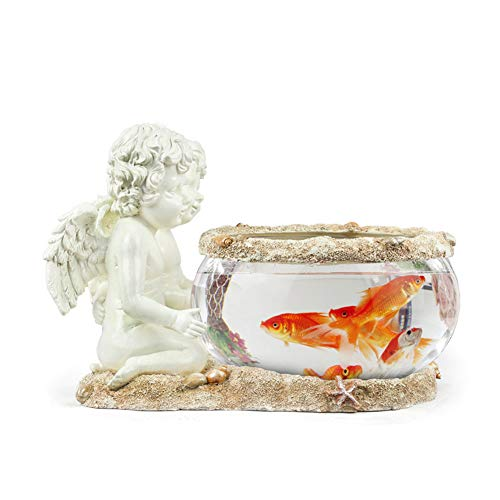 REWQ Acuario Acuario Casa del Norte de Europa Decoraciones prácticas Creativas de Cristal pequeños pecera Adornos Sala de Estar decoración de Mesa artesanías de Resina