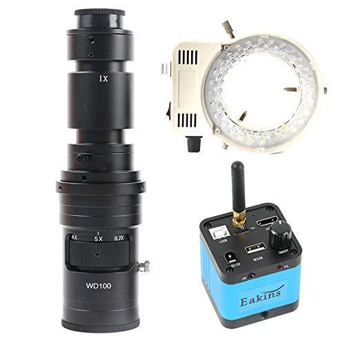 SUNTAOWAN 1080P 36MP HDMI USB WiFi Video microscopio 100x 180x 200x 300x 500x C-Mount Lens para la reparación de PCB del teléfono (Color : 500X Lens with Light)