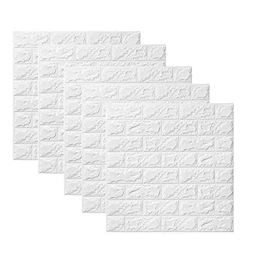 ACAMPTAR Papel Tapiz de Ladrillo 3D CáScara y Palo ExtraíBles PE Etiqueta Engomada de la Pared de Espuma para Sala de Estar Oficina en Casa 60X60Cm