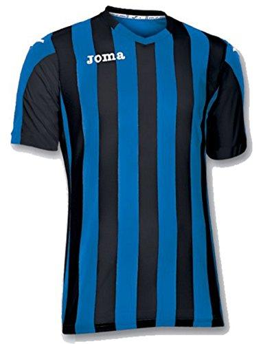 Joma Copa Camiseta de Equipación de Manga Corta, Hombre, Negro, L
