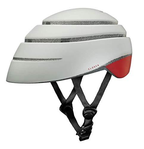 Closca Casco de Bicicleta para Adulto, Plegable Helmet Loop. Casco de Bici y Patinete Eléctrico/Scooter para Mujer y Hombre Unisex. Perla/Vino, Talla M