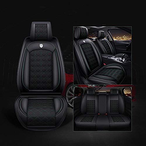 SZBEJMYA (Front+Rear) Leather \& Flax Car Seat Cover for Buick Excelle GT XT Verano GS Velite Angkola Envision Regal GS Hide Ford Focus,Green Standard