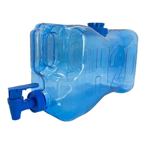 TIENDA EURASIA Dispensador de Agua 5,5 L - Fabricado en Plastico Libre de BPA - Apertura de Tapon y Dispensador de Grifo - Ideal para Mantener el Agua Fresquita en la Nevera - 19,8 x13,6 x 36,4 cm