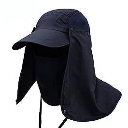 PAADIYA Boomly Hommes Femmes Été Anti-UV Chapeau de Soleil Cap d'ombre Pêche Equitation Camping Chasse Chapeau à Large…