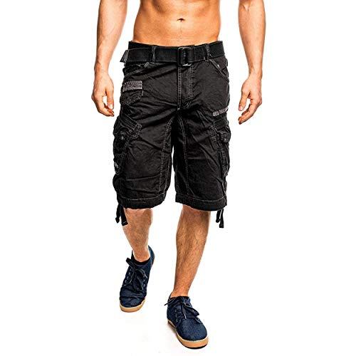 Geographical Norway Hombre Cargo Short People - Negro, XXL