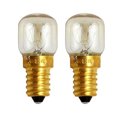 OSALADI Backofen Glühbirnen E14 25W Kleine Schraube 300 Grad Celsius Messing Glühbirne Ersatz Mikrowelle Glühbirne für zu Hause Küche Backofen