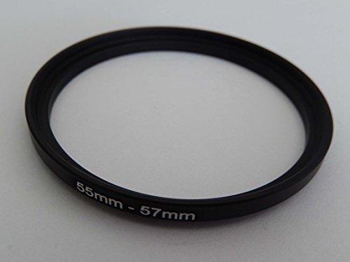 vhbw Adaptador de Filtro Step up 55mm-57mm Negro para cámaras Tamron 60...