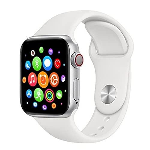 T 500 Plus Smart Watch, Reloj Inteligente con Pulsómetro, Cronómetros, Calorías, Monitor de Sueño, Podómetro para Hombre y Mujer Compatible con iOS e Android (Blanco)