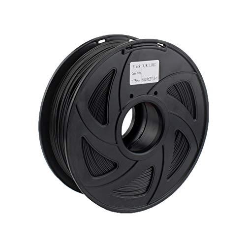 AGiao ad alta resistenza in fibra di carbonio filamento per stampante 3D 1.75mm 1KG bobina colore nero buona tenacità (colore : fibra di carbonio nero)