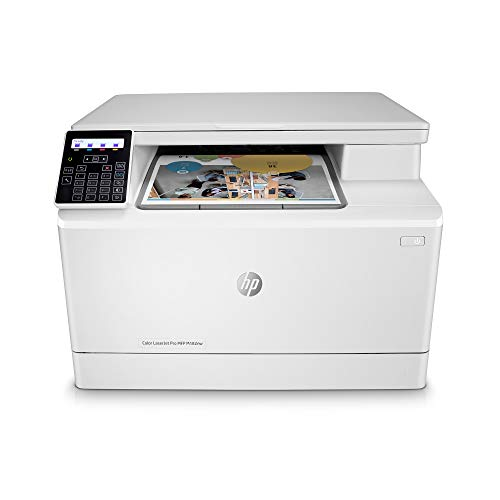 HP Color LaserJet Pro M182nw Wireless All-in-One Laser Printer, Remote Mobile Print, Scan & Copy, Works with Alexa (7KW55A)