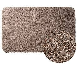Clean Step Mat Super Absorbent Doormat with Rubber Backing Non Slip As Seen On Tv Color Brown Size 16' x 28'